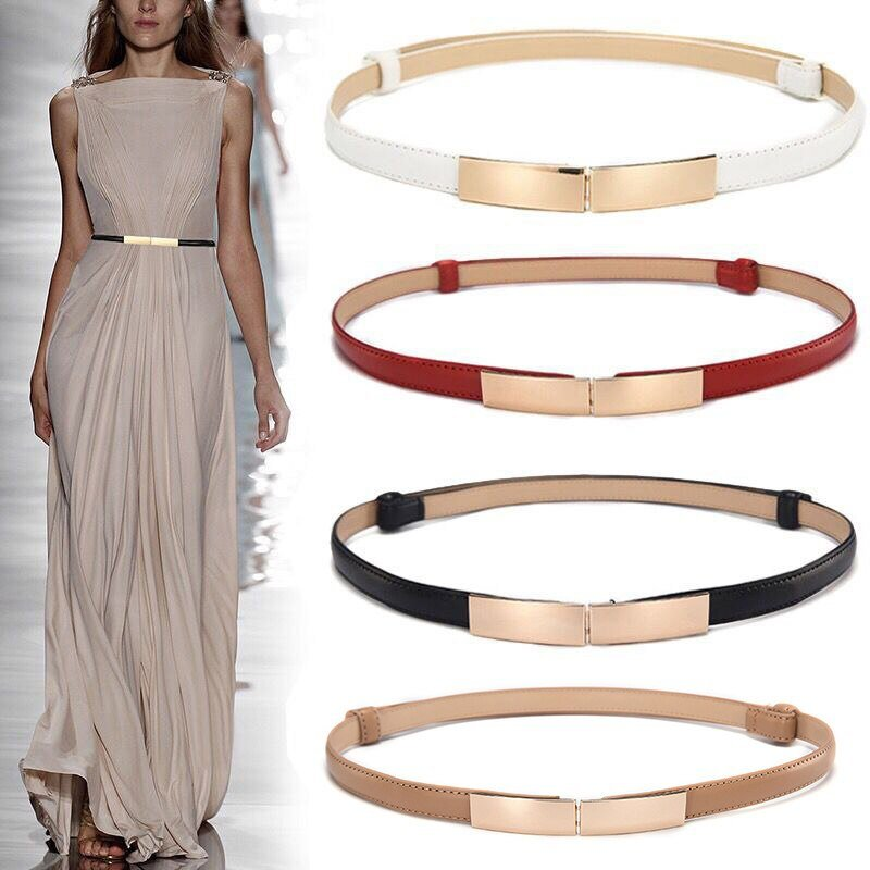 Women's Thin Dress Belt